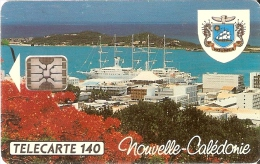 TARJETA DE NUEVA CALEDONIA DE 140 UNITES DE EL PUERTO TIRADA 25000 DEL 11/93 - Nouvelle-Calédonie