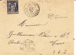 ILLE ET VILAINE,  LIFFRE, Cachet A Avec Marque Bureau Rural B (La Bouexiere) Sur Enveloppe - Marcophilie (Lettres)