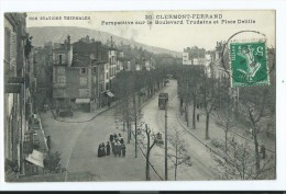 CPA - Clermont-Ferrand - Perspective Sur Le Boulevard Trudaine Et Place Delille - Clermont Ferrand