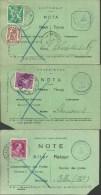 Service Des Poste Note - Postdienst Nota   6 Verschillende Uitvoeringen - 6 Différents - Documentos Del Correo