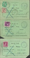 Service Des Poste Note - Postdienst Nota   6 Verschillende Uitvoeringen - 6 Différents - Documents Of Postal Services