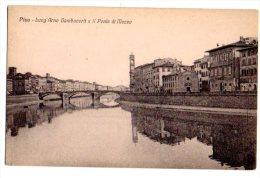 PISA - LUNG'ARNO GAMBACORTI E IL PONTE DI MEZZO - FORMATO PICCOLO - C568 - Pisa