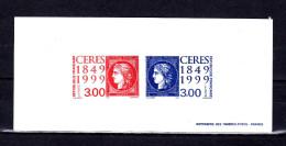 """Gravure Officielle De 1999 N° YT 3211 3212 """" 150 ANS DU PREMIER TIMBRE FRANCAIS / CERES """" En PARFAIT état. - Documents Of Postal Services"""