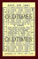 PORTUGAL - LISBOA - PASTELARIA S. JOAO - 1961 OLD CALENDAR - Calendriers