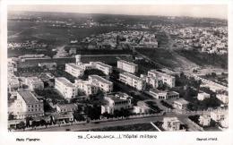 CASABLANCA - L'Hopital Militaire, Fotokarte Gel.1948 - Casablanca