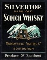 Etiquette De Whisky, Rare Old Scotch Whisky, Silvertop , Ecosse. Murrayfield C° Edinburgh. - Whisky