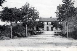 C1159 Cpa 23  Dun Le Palleteau -  La  Gare Et L'Avenue - Dun Le Palestel