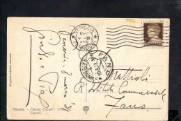 F2152 Annullo Storia Postale: Fano 1931 ( Pesaro Urbino ) Su Card Venezia, Palazzo Ducale, Scala Giganti - 1900-44 Vittorio Emanuele III