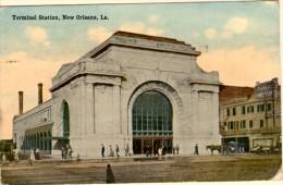 Terminal Station - New Orleans (Voir Cachet Au Verso : Occupation De La Lorraine) - 2 Timbres N°195 - New Orleans