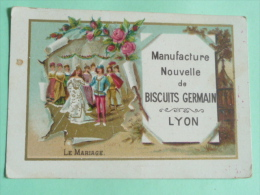 CHROMO, Image , Biscuits GERMAIN - Le Mariage - Altri