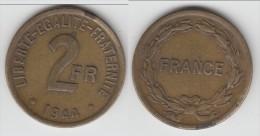 ****  2 FRANCS 1944 FRANCE - BRONZE-ALUMINIUM **** EN ACHAT IMMEDIAT !!!
