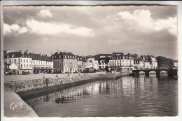 LANNION 22 - Quai D'Aiguillon Et Pont Sainte Anne Sur Le Guer - CPSM Dentelée Noir Et Blanc PF - Côte D'Armor - Lannion