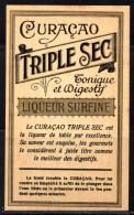 Etiquette Ancienne De Curaçao, Triple Sec. - Autres