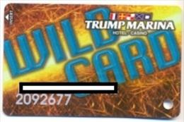 Trump Marina Casino, Atlantic City, NJ, U.S.A., older used slot card, trump-35