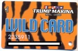 Trump Marina Casino, Atlantic City, NJ, U.S.A., older used slot card, trump-36