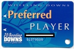Wheeling Island Casino, Wheeling, West Virginia, U.S.A. older used  slot card, wheelingisland-1a