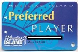 Wheeling Island Casino, Wheeling, West Virginia, U.S.A. older used  slot card, wheelingisland-1b