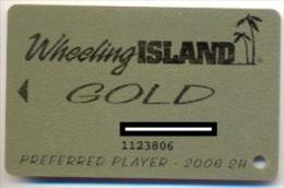 Wheeling Island Casino, Wheeling, West Virginia, U.S.A. older used  slot card, wheelingisland-4