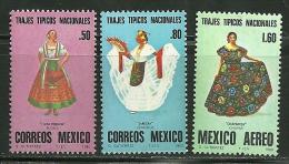 """Mexico    """"Women's Costumes""""     Set    SC# 1197-C36-38  MNH** - Textile"""