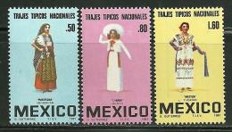 "Mexico    ""Women's Costumes""     Set    SC# 1231-33  MNH** - Textile"