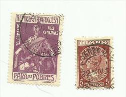 Portugal  Télégraphe N°1 Et 2 Cote 3.20 Euros - Télégraphes