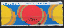 A831.-. KOLUMBIEN / COLOMBIA.- 1999.-.  MI # : 2119-20 .-.USED PAIR.-. CV € : 6.00 .-. JAPANESE MIGRATION - Colombia