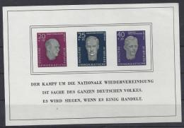 Germany (DDR) 1958  Nationaler Gedenkstatten   (**)  MNH  Mi.606 B - 608 B (Block 15) - DDR