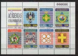 A841.-.KOLUMBIEN / COLOMBIA.- 1998.-.  MI # :2106-12 .-.USED KLEINBOGEN .-. CV € : 17.00 .-. COLOMBIAN ACADEMY - Colombia