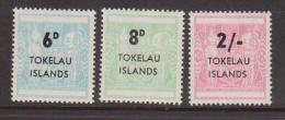 Tokelau 1966 NZ Postal Fiscal Overprint set 3 MNH