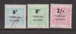 Tokelau 1966 NZ Postal Fiscal Overprint set 3 FU