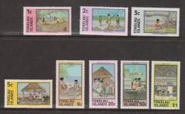 Tokelau 1976 Definitive set 8 MNH