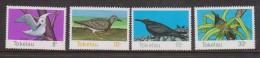Tokelau 1977 Bird set 4 MNH