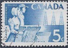 Canada  1955  # 355  ( Blé Et Pétrole ) - 1952-.... Reign Of Elizabeth II