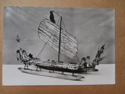 38187 PC: MUSEUM: THE BRITISH MUSEUM: Model Of A Single-outrigger Canoe, With Bow And Stern Ornaments Of A Type Usually - Museum