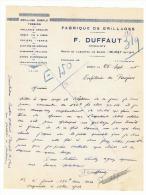 Lettre à Entête -  Fabrique De Grillages F. DUFFAUT à MURET 1946 (fr16) - 1900 – 1949
