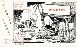 Very Old QSL Card From L. Steen, Häksberg, Sweden (PR-11122) - Year 1970 - CB