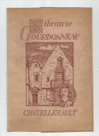 PUBLICITE , Cache Livre , LIBRAIRIE GOURDONNEAU , CHATELLERAULT , Frais Fr : 1.80€ - Publicités