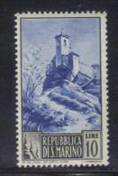 SAN MARINO 1949 , 10 Lire N. 349 *** MNH . PAESAGGI - Nuovi