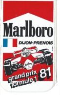 Cigarettes/Marlboro/Course Automobile/Grand Prix  Formule1/DIJON/ 1981  ACOL60 - Stickers