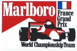 Cigarettes/Marlboro/France Grand Prix/World Championship Team /DIJON/ V 1980        ACOL61 - Stickers