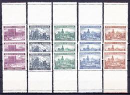 * Boheme Et Moravie Mi 33-37 + Vignettes - Lot 706 (Yv 33-37), (MH) Trace De Charniere Propre - Stamps
