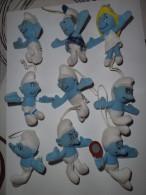 LOT DE 9 SCHTROUMPFS 2011- PELUCHES JOUETS MAC DO ET 2 SCHTROUMPFS ARTICULES 2002 - McDonald's