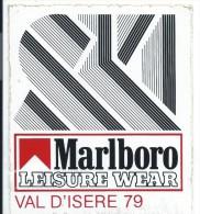 Cigarettes/Marlboro/SKI/Val D'Isére/ Leisure Wear/ 1979         ACOL62 - Stickers