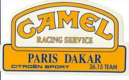 Cigarettes/Camel /Paris Dakar / Citroën Sport/ Racing Service/ Vers 1985   ACOL65 - Stickers