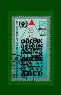 """.DDR 1990 Gestempelt Mi.-Nr. 3353 """" Internationales Jahr Der Alphabetisierung"""" (D156) - [6] Democratic Republic"""
