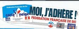 SKI/ Fédération Française De Ski/ Carte Neige / Moi J´Adhére/FFS/  Vers 1985     ACOL71 - Stickers