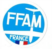 Aéromodélisme /Fédération Française / FFAM/France /  Vers 1985     ACOL72 - Stickers