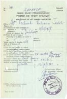 09108 KATANGA Permis De Port D´armes Daté De Jadotville 1961 Pour Un 9mm Browning - GF - Documents