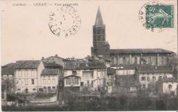 LEZAT L'ARIEGE  VUE GENERALE (EGLISE ET MAISONS) 1910 - Lezat Sur Leze