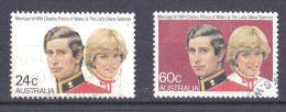 Australia 1981 Royal Wedding Set Of 2 Used - 1980-89 Elizabeth II